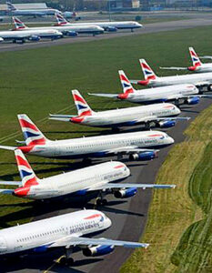 What's happened to the world's fleet of aircraft? British Airways is using regional airports it does not serve, such as Bournemouth, to store grounded planes PA/ Image Credit: National Police Air Service / PA Press Association, 2020.
