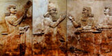 Easier than ever to traffic Middle Eastern Antiquities. Bas-relief is displayed at the Iraqi National Museum in Baghdad, Sept. 15, 2014. Image Credit: Hadi Mizban / AP Associated press, 2020.