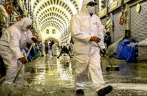 People must judge risks themselves, according with WHO World Health Organisation. The Egyptian bazaar in Istanbul was cleaned this week in preparation for the easing of lockdown in Turkey. Image Credit: Chris Mcgrath / Getty Images, 2020.