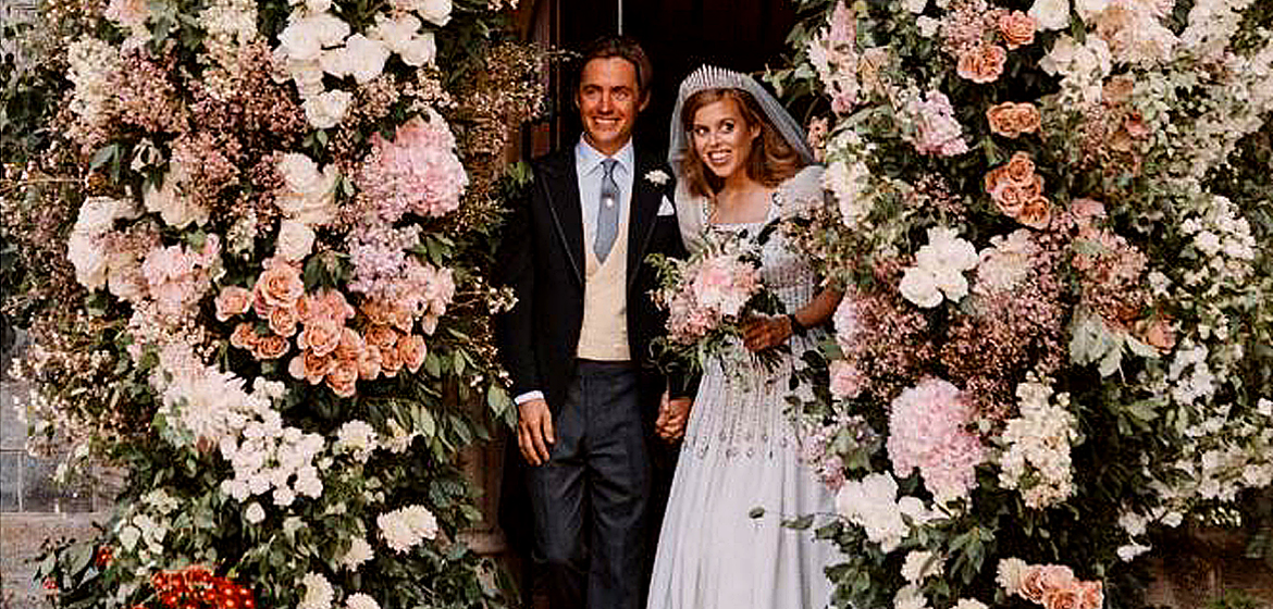 Prince Andrew and Beatrice wedding photos.