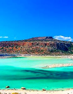 Crete becalmed, the island feels exactly like it did in the 1970s. The lagoon at Balos, a summer tourist hot spot. Image Credit: The Times Travel, 2020.