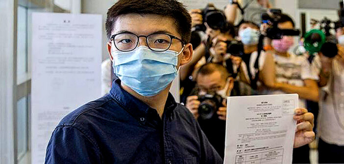 Joshua Wong files to stand in Hong Kong election.