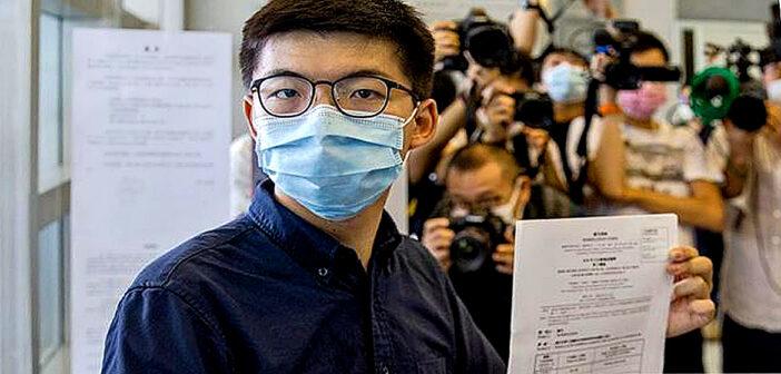 Joshua Wong files to stand in Hong Kong election.