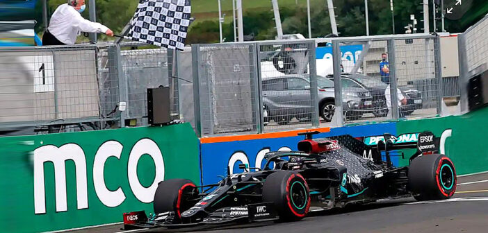 Lewis Hamilton takes world title lead.