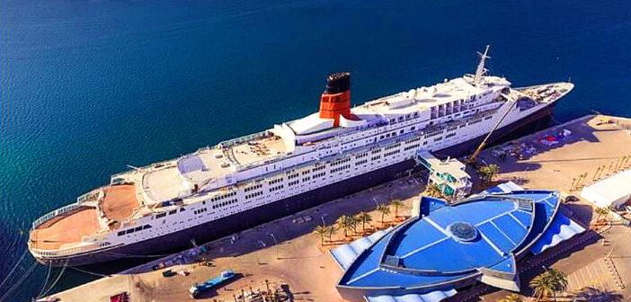 Unique floating hotel in Dubai.