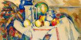 Christie's Can't Wait, Cezanne at New York. Paul Cezanne, ''Nature morte avec pot au lait, melon et sucrier'' (1900–1906). Image Credit: Christie's Images LTD. 2020.