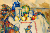 Christie's Can't Wait, Cezanne at New York. Paul Cezanne, ''Nature morte avec pot au lait, melon et sucrier'' (1900–1906). Image Credit: Christie's Images LTD. 2020.