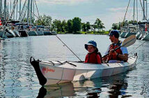 Kayak Haven Tandem folding kayak review. All-new, ultra-light, folding suitcase kayak now in tandem.. Image Credit: Paddling Magazine, 2020.