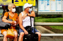 "Jamaica, Switzerland and Czech Republic to quarantine. Tourists on Gran Canaria. The government has imposed restrictions on people arriving in the UK from 17 countries after having previously declared that they were ""safe"". Image Credit: Alan Dawson / Alamy for The Times, London, UK, 2020."