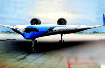 A new plane for the future. It looks Futuristic. This is what the flying V. Photo plane design looks like: Image Credit: KLM and TU Delft, 2020.