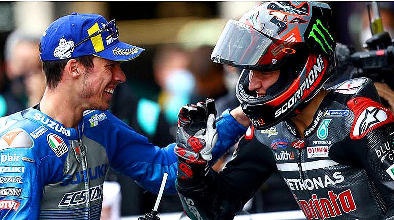 Suzuki and Yamaha for the MotoGP title.