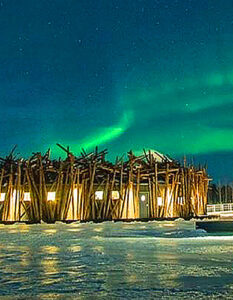 A look inside Sweden's new floating hotel. The hotel under the northern lights. Image Credit:: Johan Jansson., 2020.