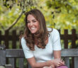 Duchess of Cambridge meets parents in the walled Old English Garden in Battersea Park. The Duchess of Cambridge seems to be being teased. She was meeting parents to learn about their experiences of peer support TIMES PHOTOGRAPHER JACK HILL, 2020.