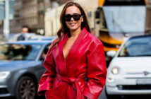 Fashion week Influencers are back. And this is what they're wearing.. Evangelie Smyrniotaki's red boiler suit channels S&M Christian Vierig / Getty Images, 2020.