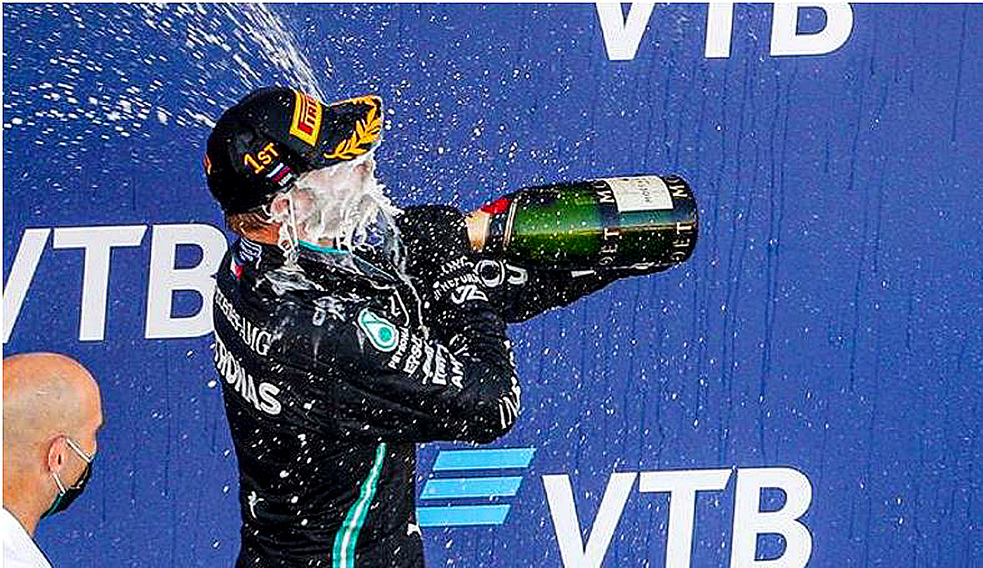 2020 F1 Russian Grand Prix report: 'They are trying to stop me,' says Hamilton, as penalty hands Bottas win. Image Credit: Francois Flamand / DPPI, 2020.