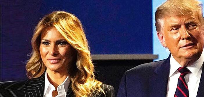 Donald and Melania Trump quarantine.