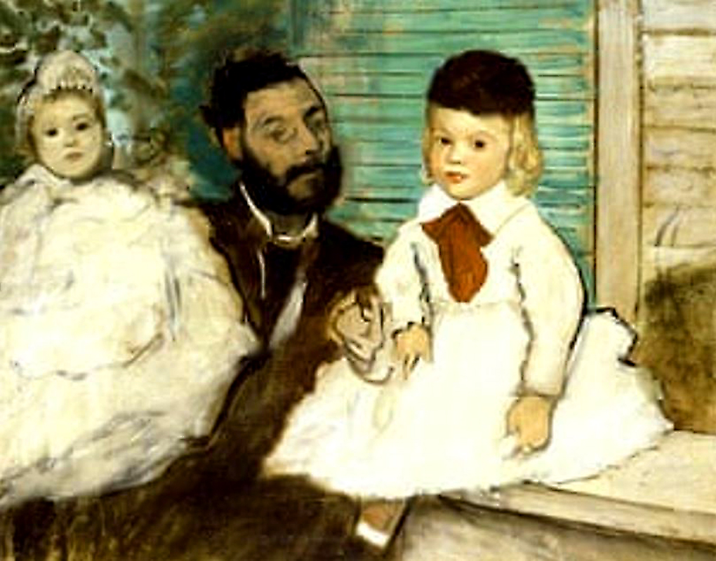 Count Lepic and his Daughters by Edgar Degas (1871). Image Credit: AFP Associated France Presse, / Getty Images, 2020.