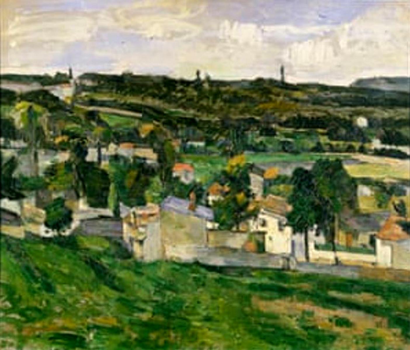 On Millennium Eve, Cézanne's Auvers-sur-Oise. Image Credit: Ashmolean Museum/Heritage Images/Getty Images, 2020.