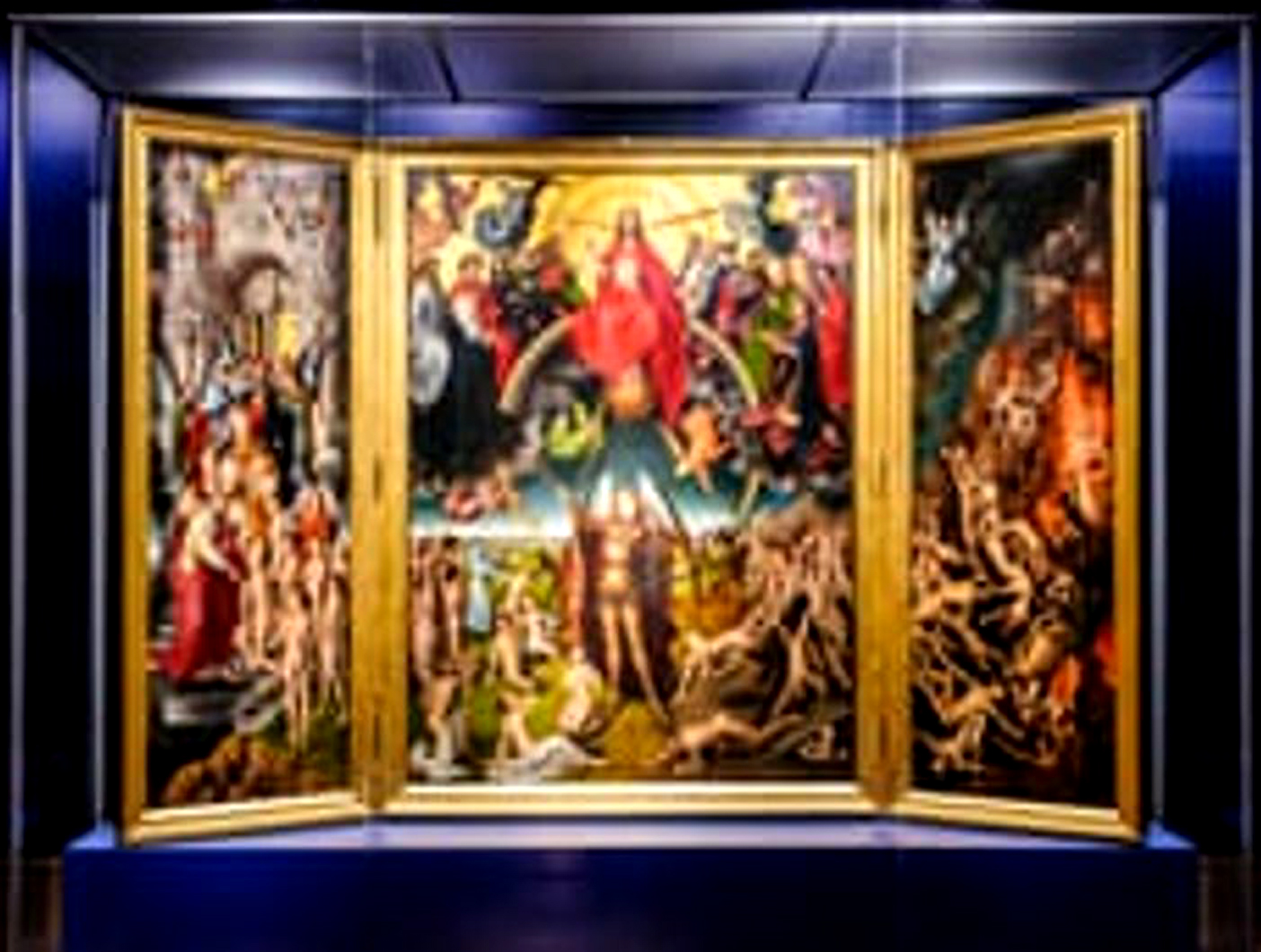 The Last Judgment, a triptych by the German-born painter Hans Memling, during a journey to Florence. Image Credit: Photograph: Stephen Barnes / Religion / Alamy, 2019.