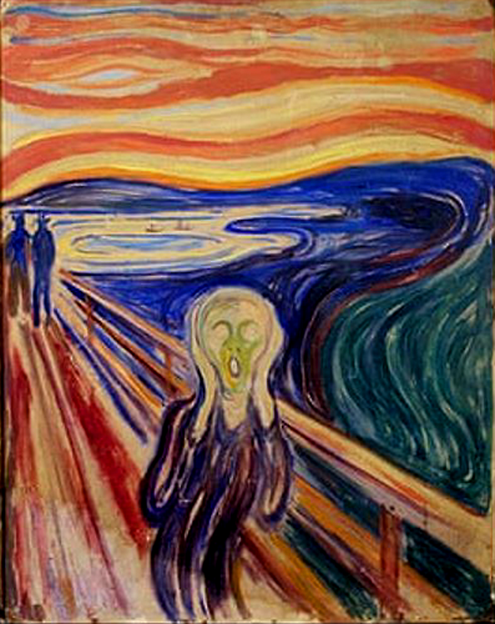 Edvard Munch's The Scream. Image Credit: Stian Lysberg / AFP / Getty Images, 2020.