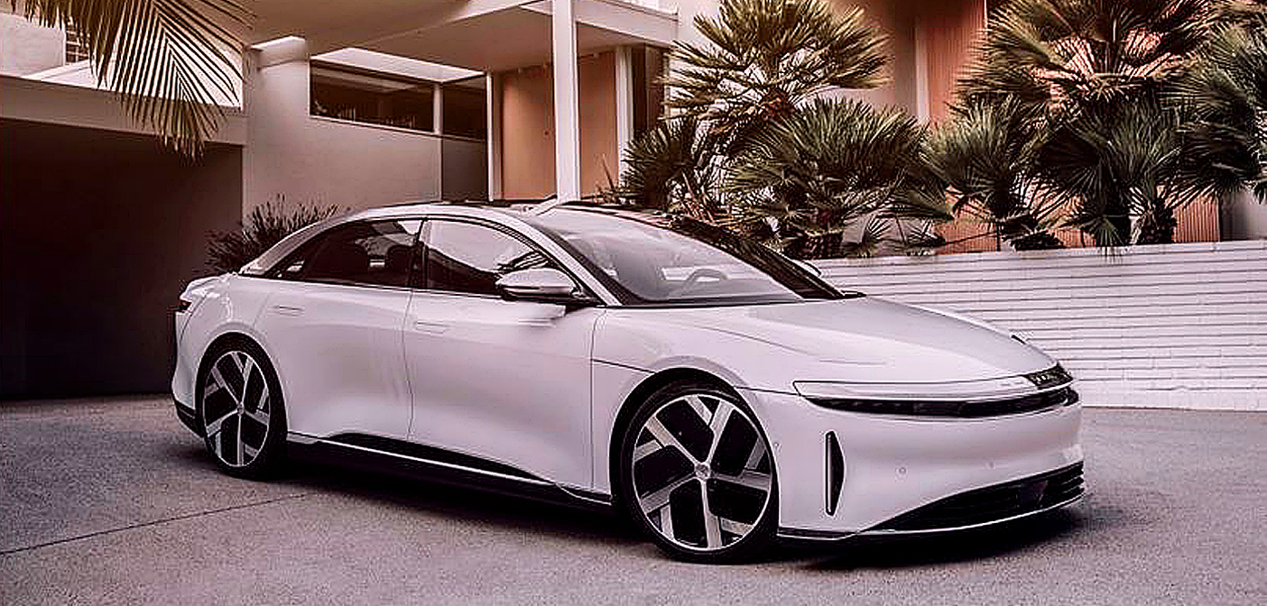 Lucid Air, a new luxury electric car.