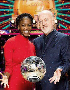 Bill Bailey's Strictly Diary wins Glitterball Trophy.'Lifting the Glitterball trophy was for my mum and dad' Oti Mabuse and Bill Bailey are the 2020 Strictly Come Dancing Champions Image Credit: BBC, 2020.
