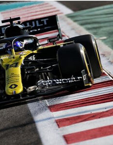 Best Laptime for Fernando Alonso at the post Abu Dhabi Test. Renault DP World F1 Team concluded its 2020 on-track season at the post-Abu Dhabi test with Fernando Alonso and Guanyu Zhou at the wheel of the Renault R.S.20s at Yas Marina. Image Credit: Renault Press, 2020.