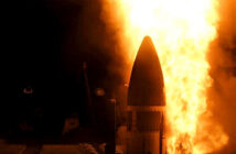 US success in test destruction of missile.. A SM-3 Block IIA was launched on Monday from the USS. Image Credit: John Finn, 2020.