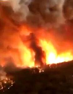 Blaze in South Australia. It fuels fears of new bushfire crisis. Image Credit: Alamy, 2021.
