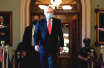 Senate May Consider Stimulus Checks. Senator Mitch McConnell's decision to link together all of President Trump's demands could doom any chance of passage. Image Credit: Stefani Reynolds, NYT, 2021.