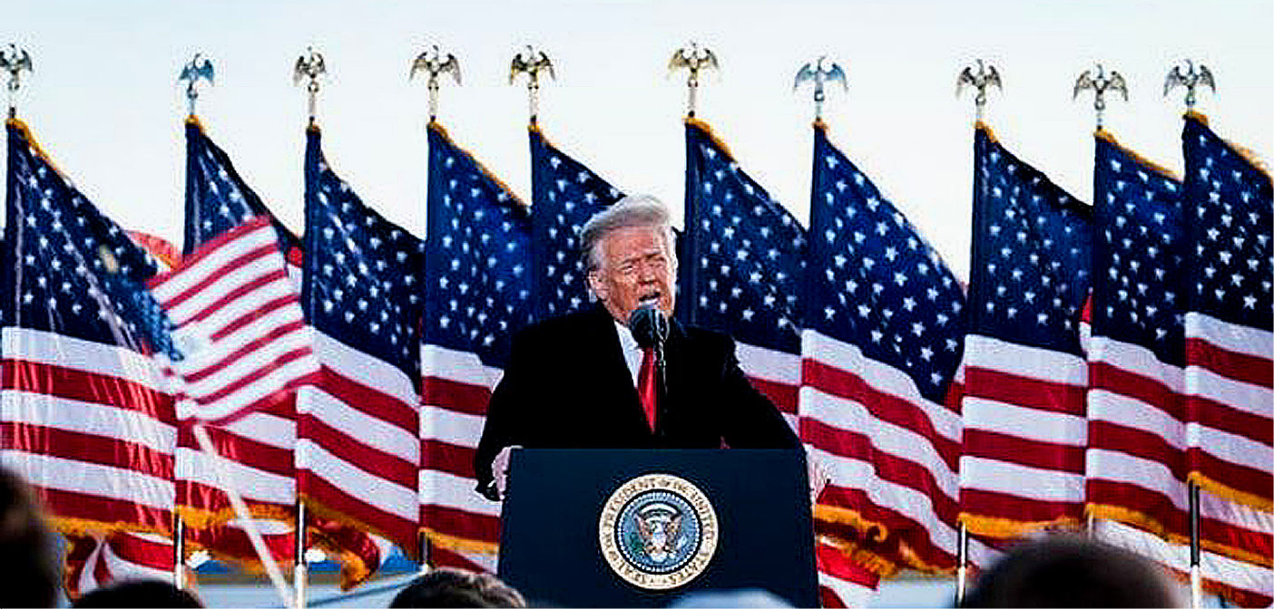 President Donald Trump leaves the White House.. Mr. Trump spoke to supporters at Joint Base Andrews in Maryland before boarding Air Force One for the last time as president.