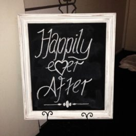 White Framed Blackboard