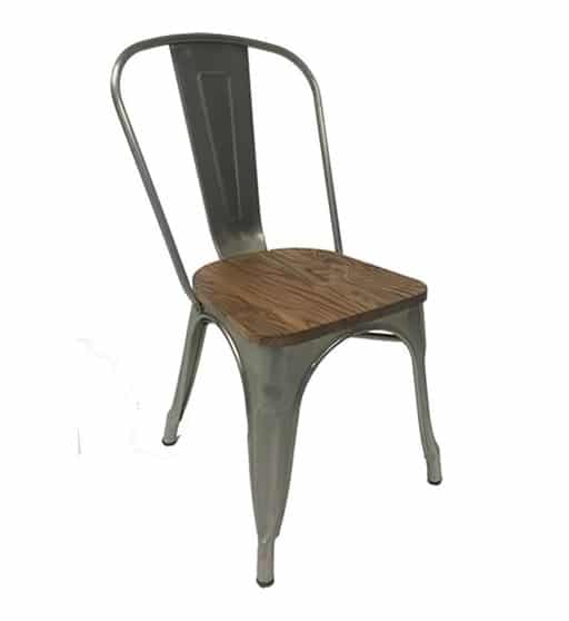 Tolix Chair Wooden Seat