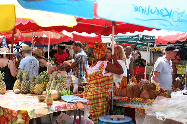 Guadeloupe Islands Market in Pointe a Pitre
