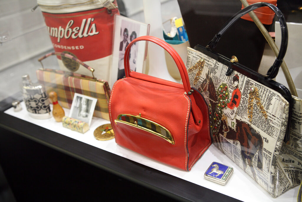Inside women's purses in the Esse Purse Museum in Little Rock