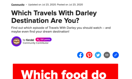 Which Travels With Darley Destination Are You? - Buzzfeed
