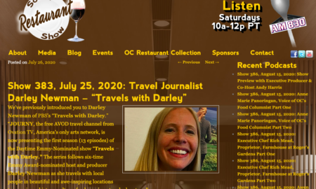 """Darley Back on """"The SoCal Restaurant Show"""""""