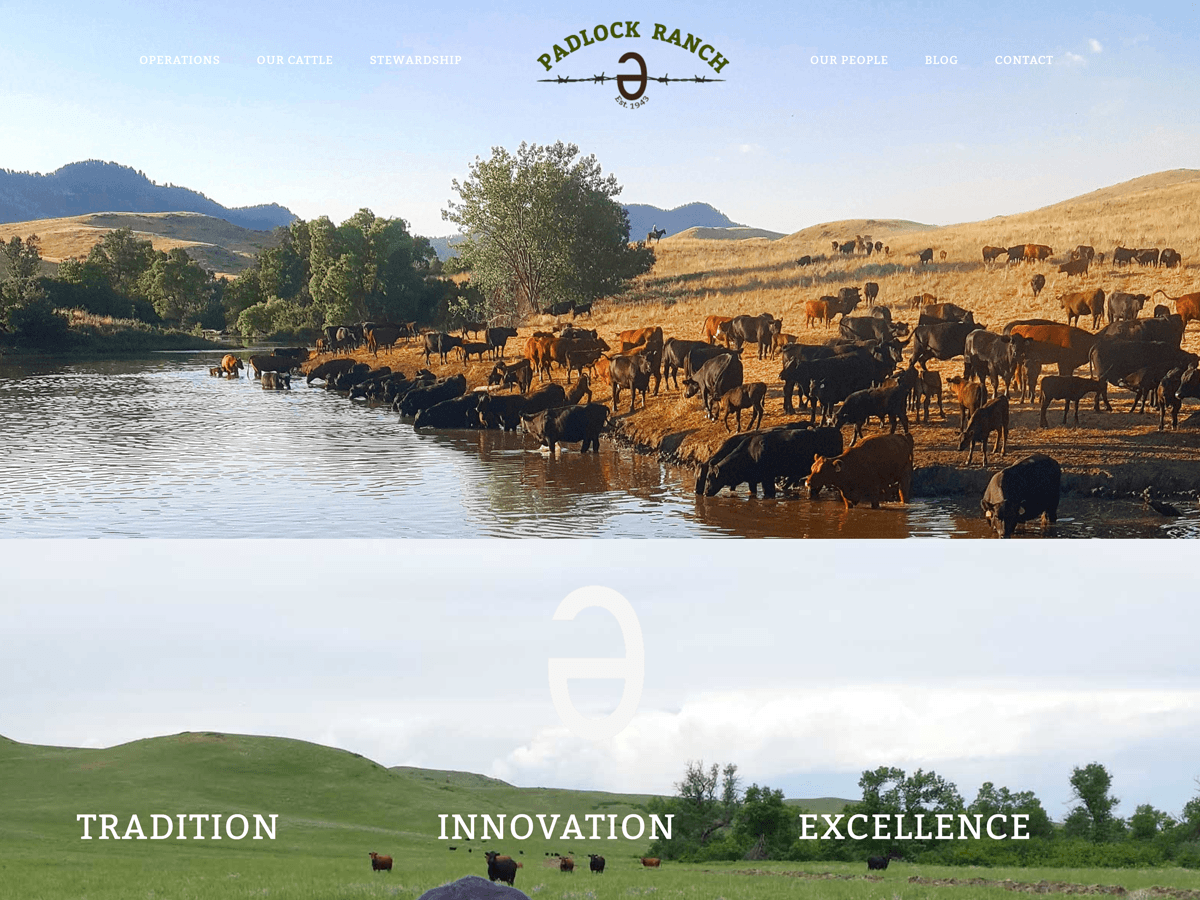 Padlock Ranch website created by Confluence Collaborative