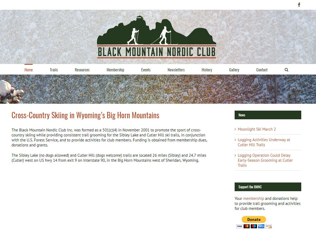 Black Mountain Nordic Club website created by Confluence Collaborative