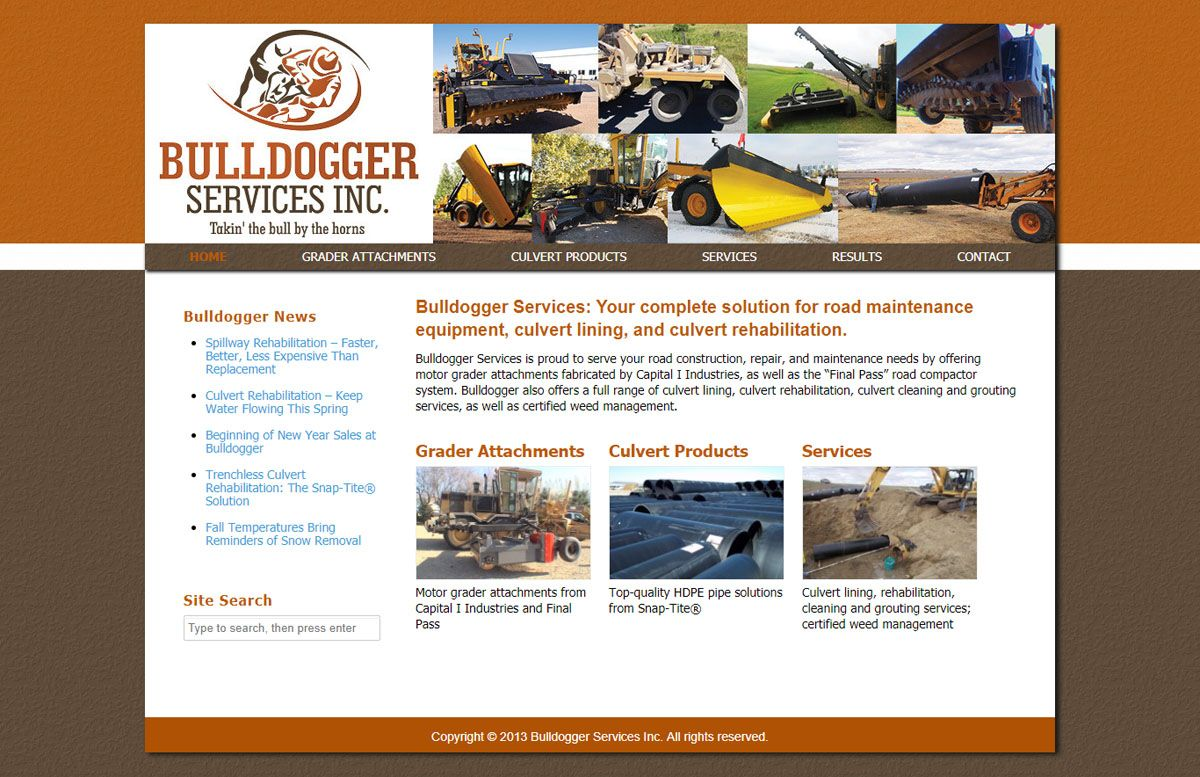 Bulldogger Services website created by Confluence Collaborative