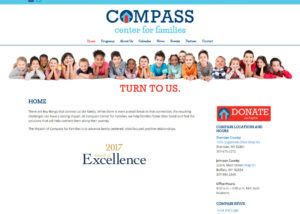 Compass Center for Families website created by Confluence Collaborative