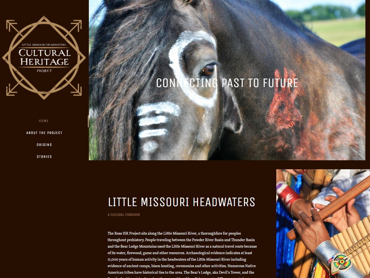 Little Missouri Headwaters Cultural Heritage Project website created by Confluence Collaborative