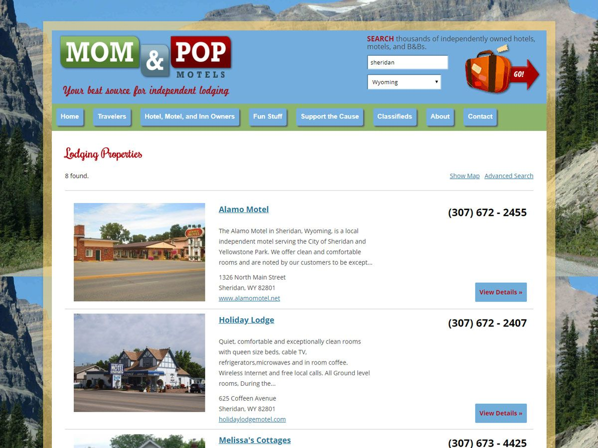 Mom and Pop Motels website created by Confluence Collaborative