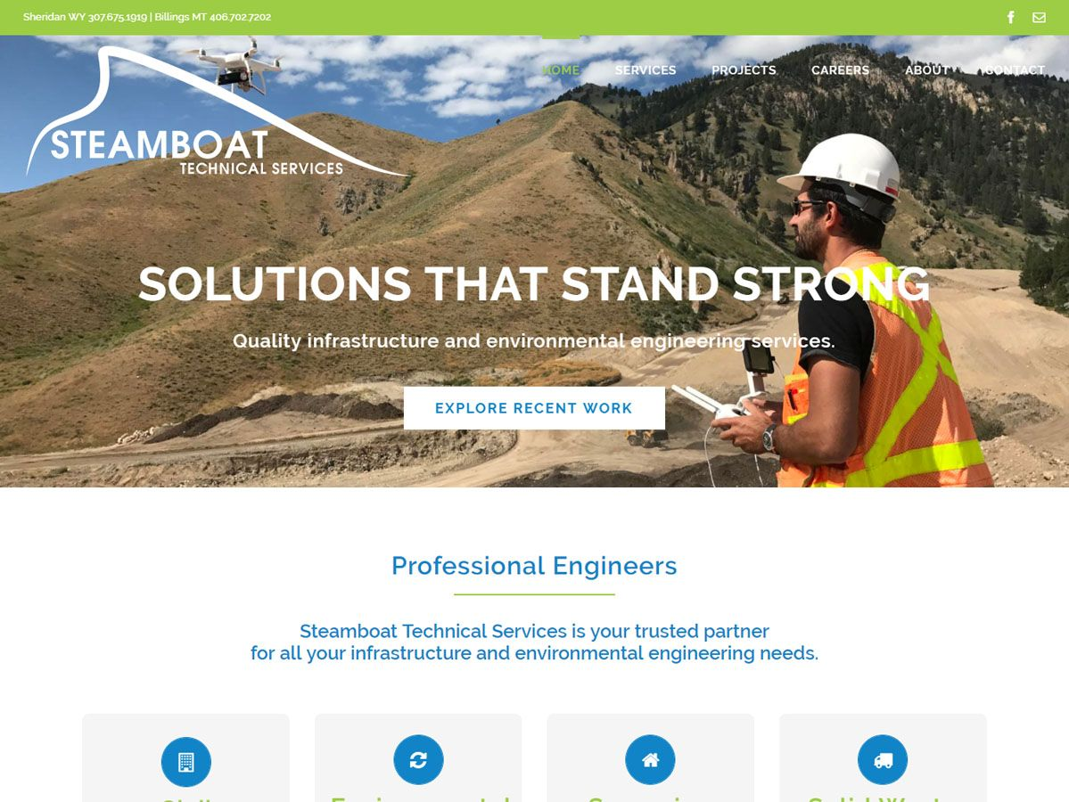Steamboat Technical Services website created by Confluence Collaborative