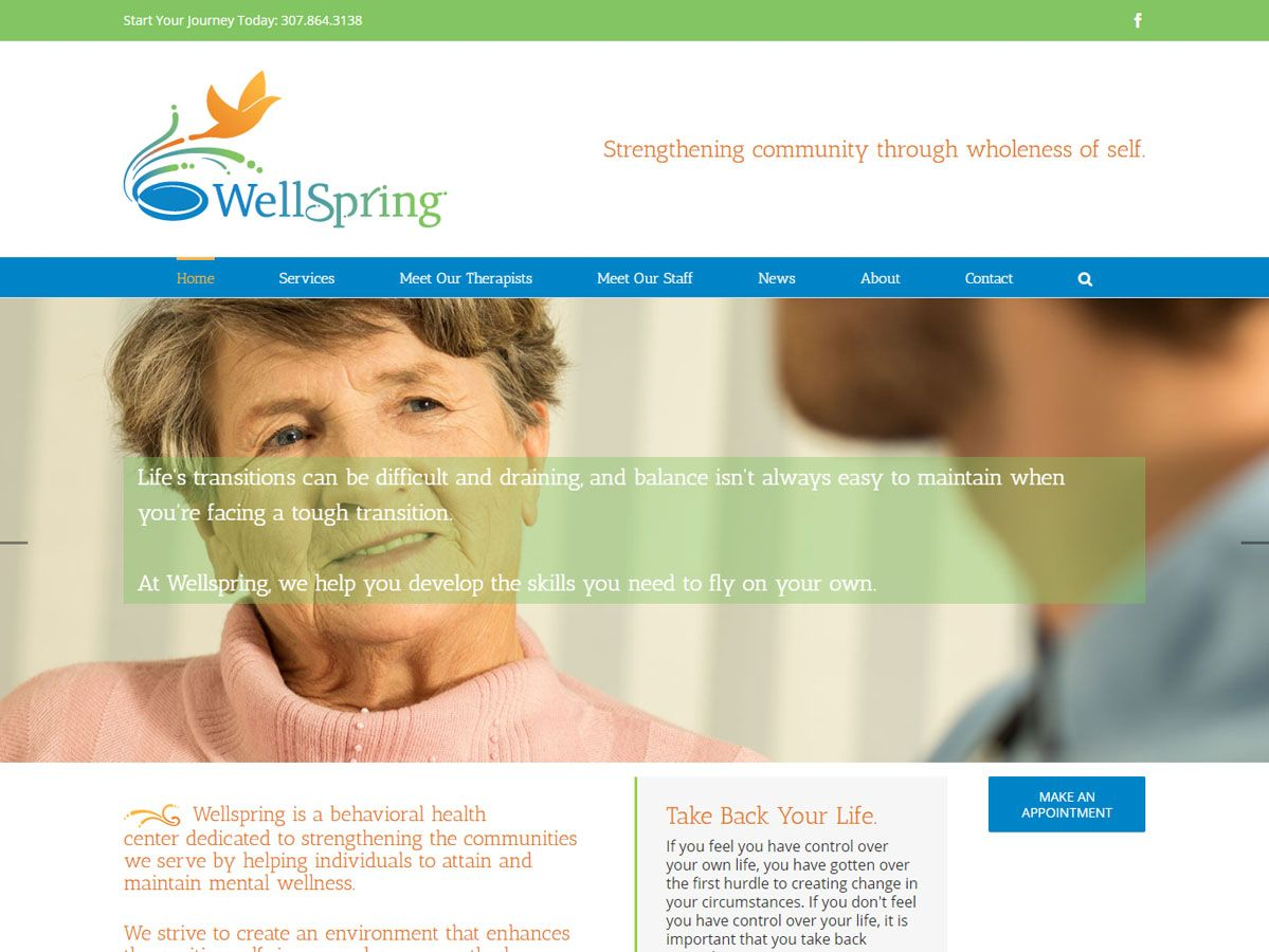 Wellspring website created by Confluence Collaborative