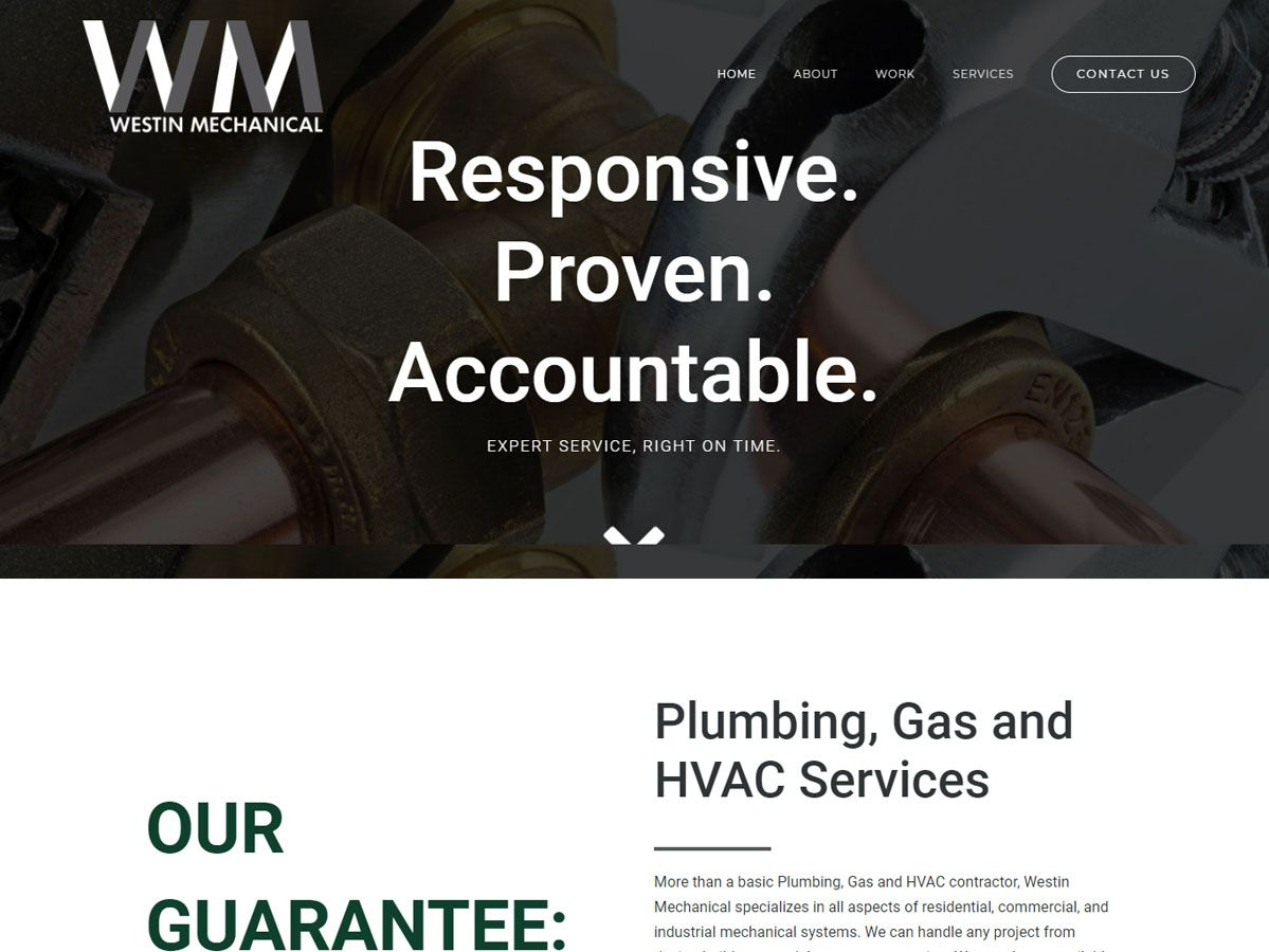 Westin Mechanical website created by Confluence Collaborative