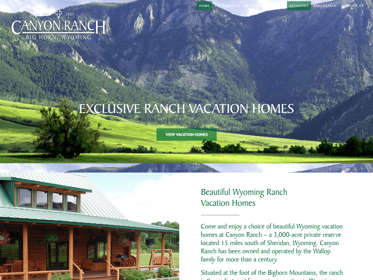Canyon Ranch website created by Confluence Collaborative