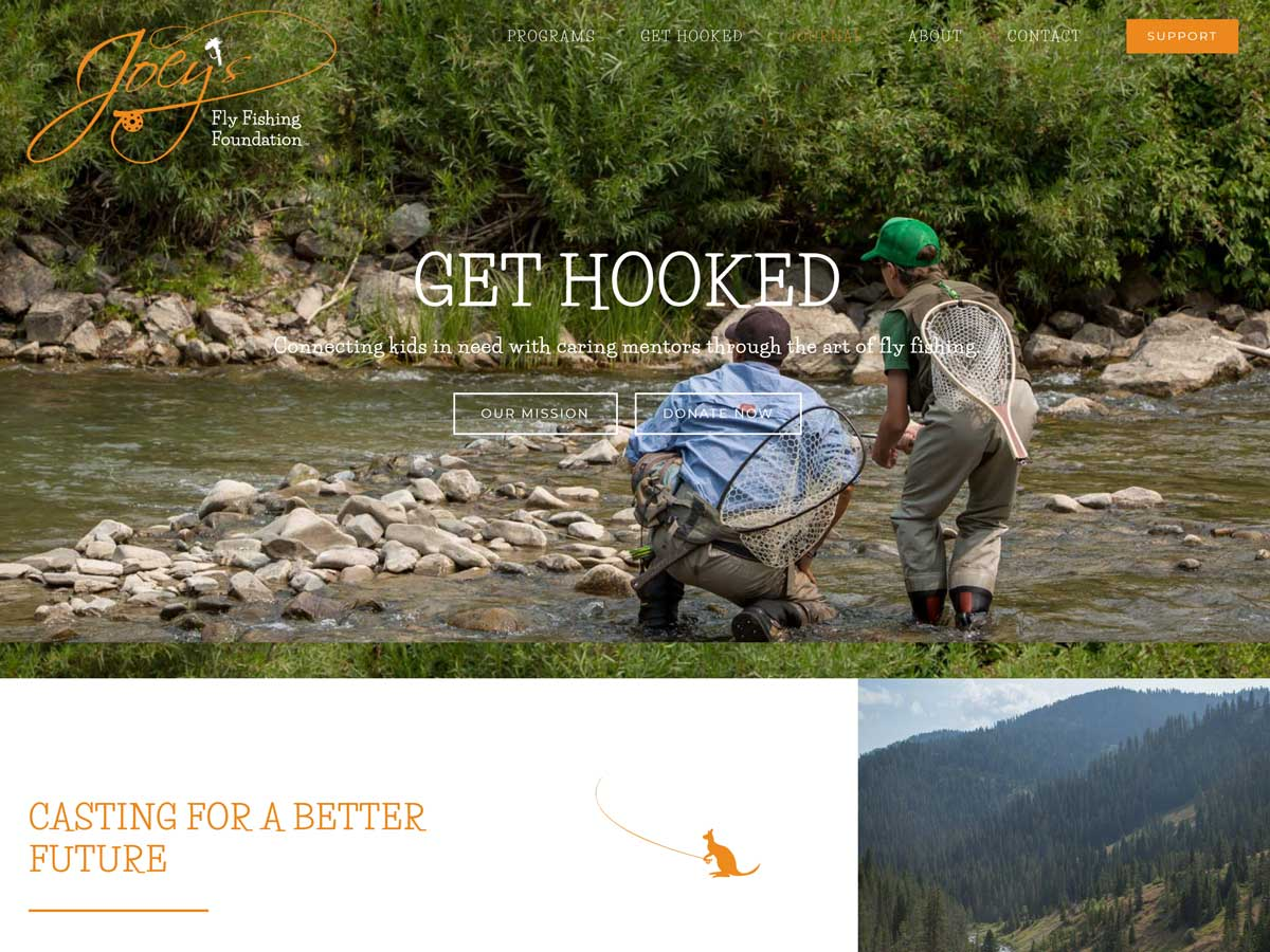 Joeys Fly Fishing Foundation website created by Confluence Collaborative