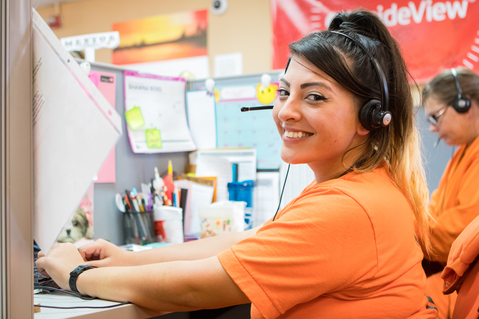 Televerde Foundation Woman Smiling at work