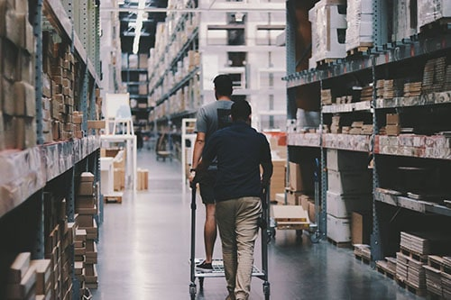 Inventory management in large warehouses